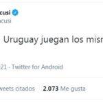 """Argentinos se ríen de Uruguay en Twitter: """"Juegan los mismos desde 1990"""""""
